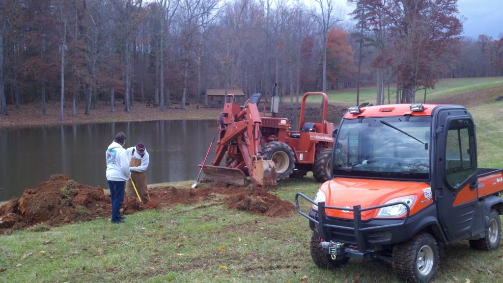 Digging water lines -2011